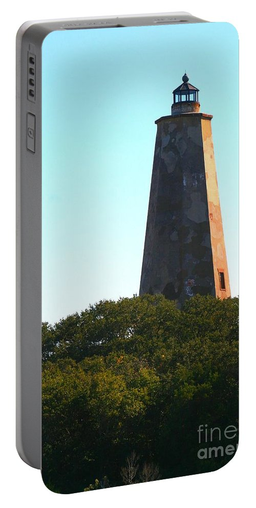 Lighthouse Portable Battery Charger featuring the photograph The Lighthouse by Nadine Rippelmeyer
