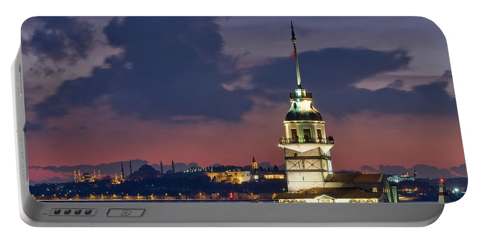 Portable Battery Charger featuring the photograph The Maiden's Tower by Ayhan Altun