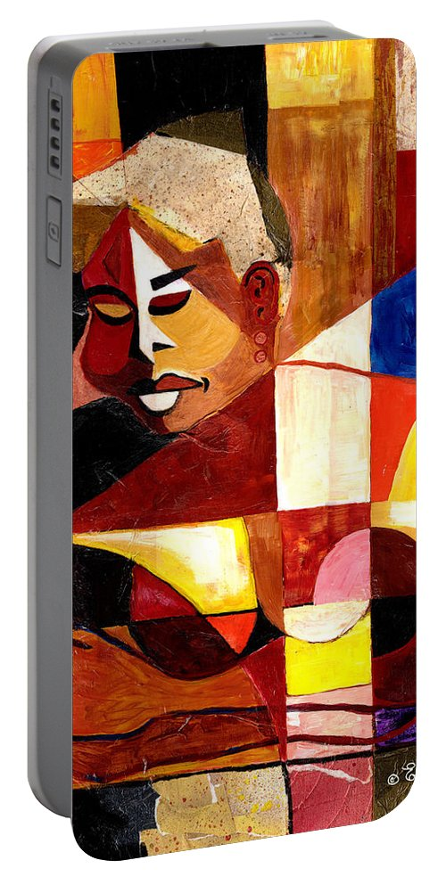 Everett Spruill Portable Battery Charger featuring the painting The Matriarch - Take 2 by Everett Spruill