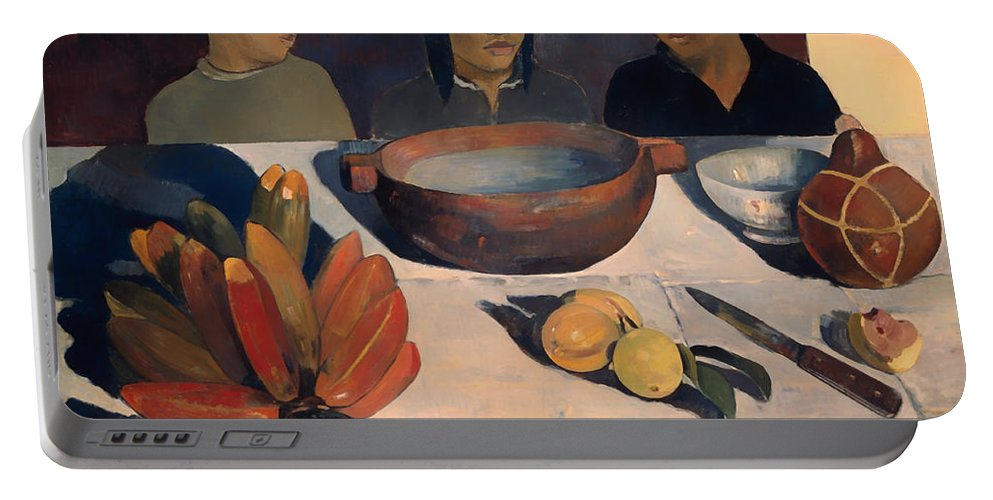 Paul Gauguin Portable Battery Charger featuring the painting The Meal by Paul Gauguin