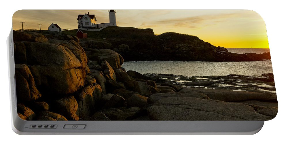 Lighthouse Portable Battery Charger featuring the photograph The Nubble by Steven Ralser