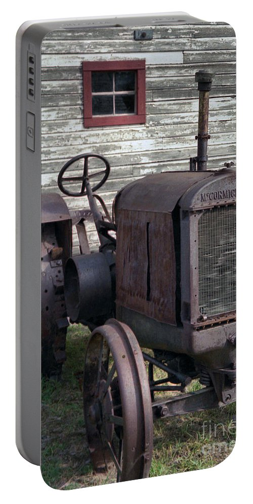 Farm Tractor Portable Battery Charger featuring the photograph The Old Mule by Richard Rizzo