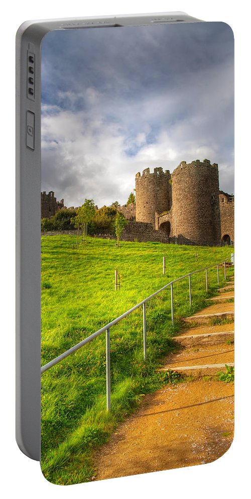 Hdr Portable Battery Charger featuring the photograph The Path Leadeth Me Home by Adrian Evans