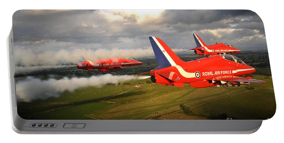 T1a Portable Battery Charger featuring the photograph The Red Arrows by Paul Fearn
