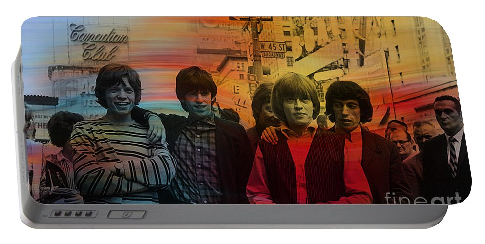 Rolling Digital Art Digital Art Portable Battery Charger featuring the mixed media The Rolling Stones by Marvin Blaine