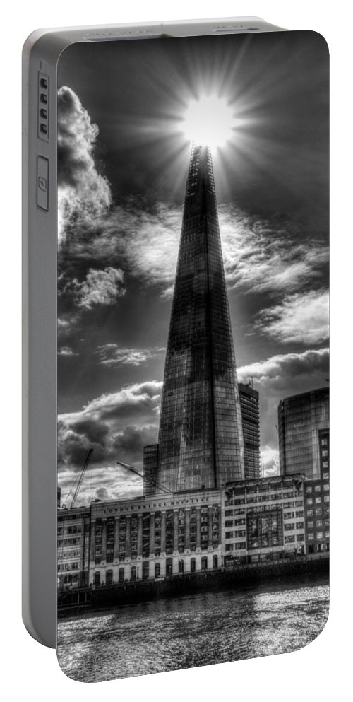 London Bridge Portable Battery Charger featuring the photograph The Shard And South Bank by David Pyatt