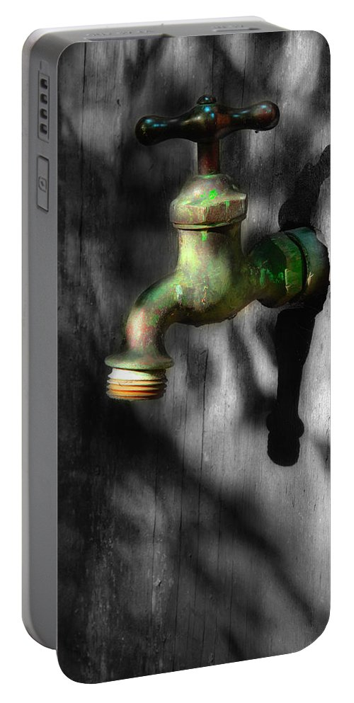 Faucet Portable Battery Charger featuring the photograph The Years Have Gone by Michael Eingle