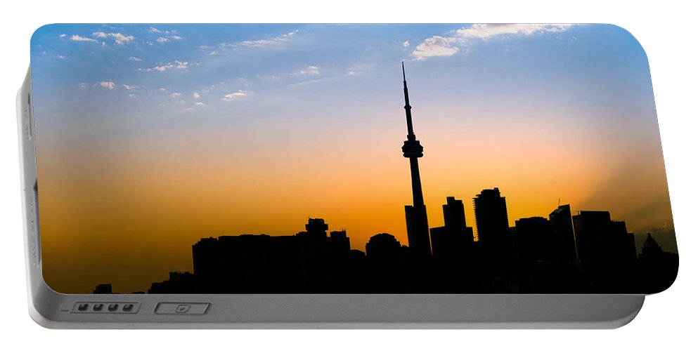Toronto Portable Battery Charger featuring the photograph Toronto Skyline by Sebastian Musial