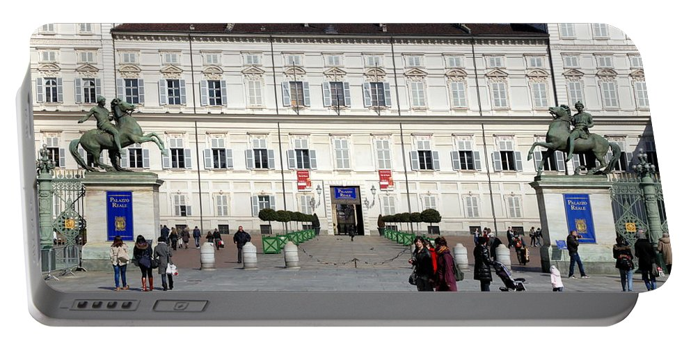 Italy Portable Battery Charger featuring the photograph Turin Palazzo Reale by Valentino Visentini