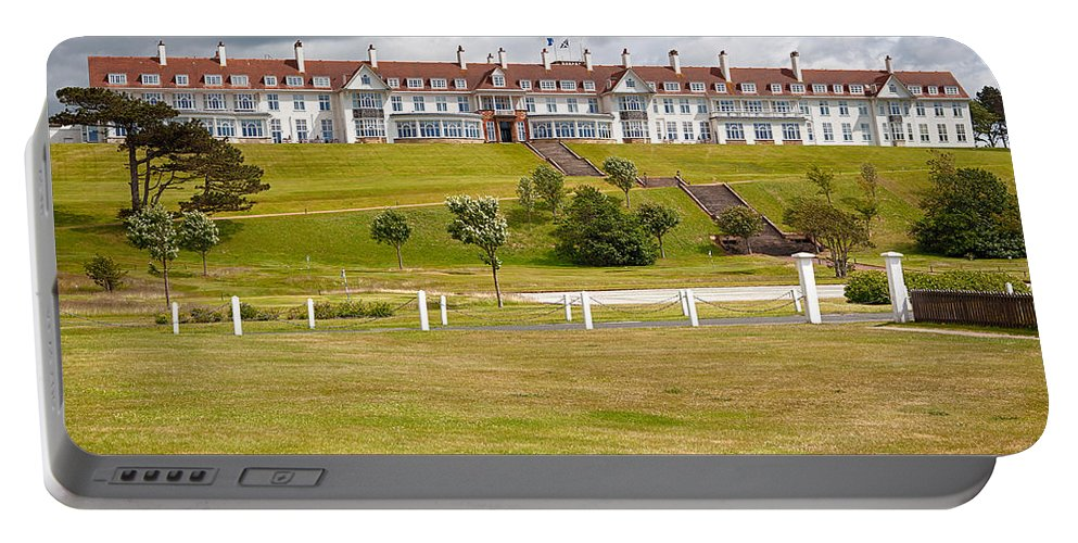 Resort Portable Battery Charger featuring the photograph Turnberry Resort by Eunice Gibb