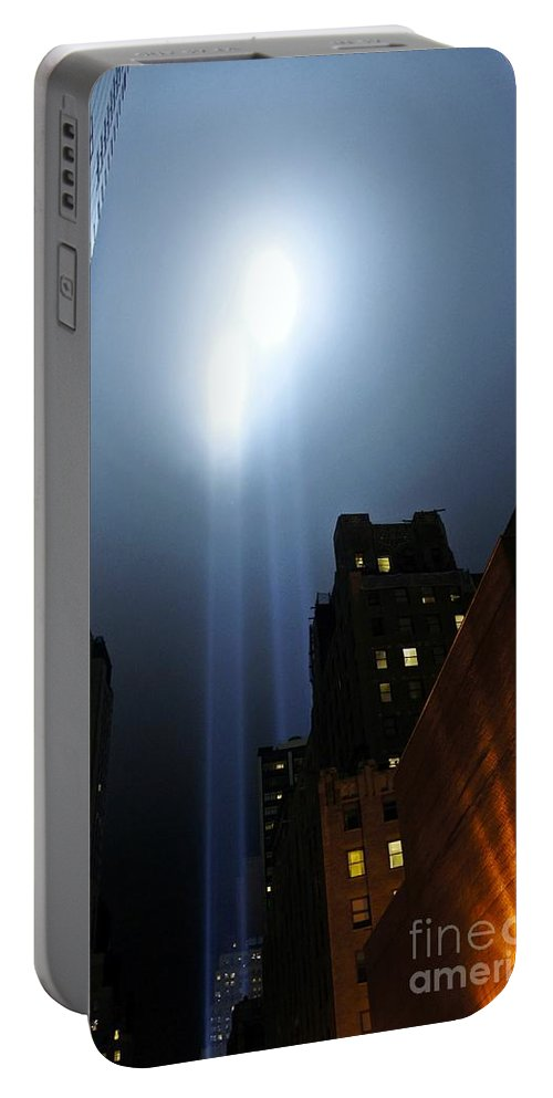 Twin Beams Portable Battery Charger featuring the photograph Twin Beams I by Lilliana Mendez