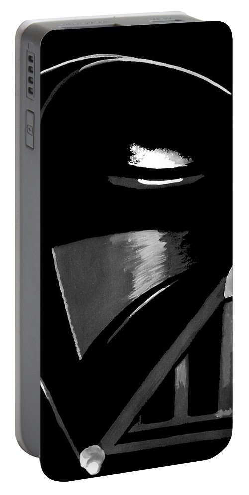 Star Wars Portable Battery Charger featuring the painting Vader by Dale Loos Jr