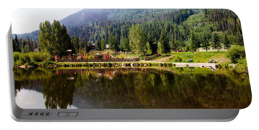 Vail Portable Battery Charger featuring the photograph Vail Reflections by Madeline Ellis