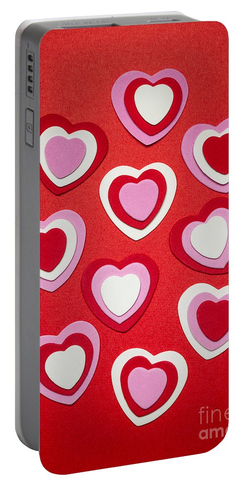 Hearts Portable Battery Charger featuring the photograph Valentines Day Hearts by Elena Elisseeva