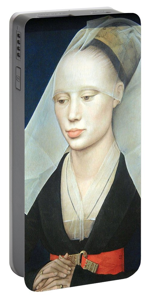 Portrait Of A Lady Portable Battery Charger featuring the photograph Van Der Weyden's Portrait Of A Lady by Cora Wandel