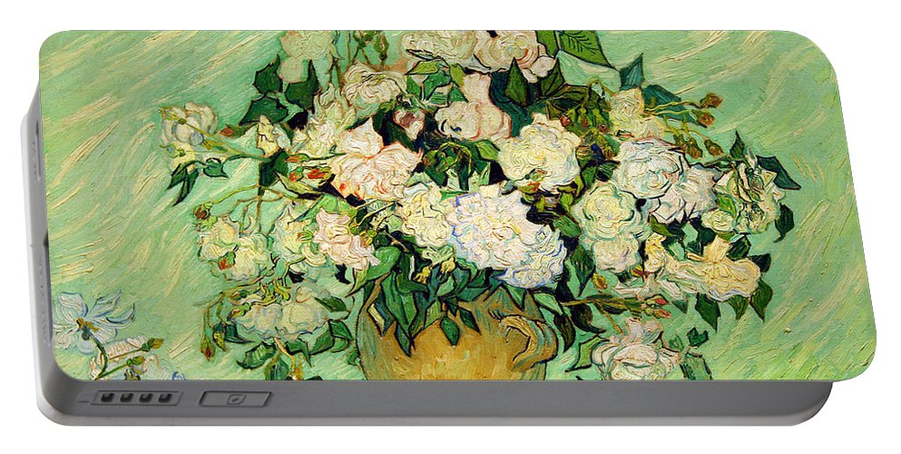 Roses Portable Battery Charger featuring the photograph Van Gogh's Roses by Cora Wandel