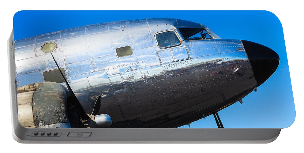 1930s Portable Battery Charger featuring the photograph Vintage Airplane by Raul Rodriguez