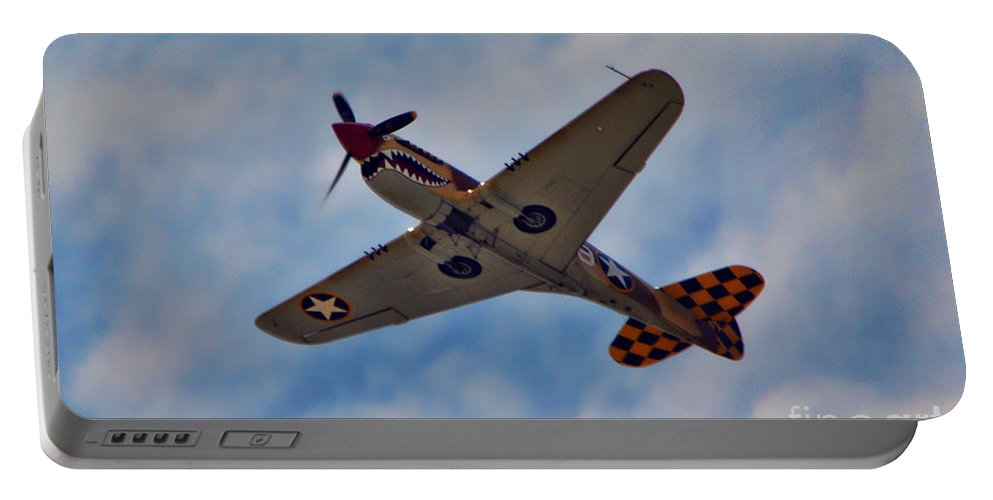 Curtis P-40 Warhawk Portable Battery Charger featuring the photograph Warhawk by Tommy Anderson
