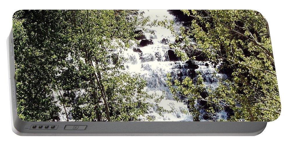 Idaho Portable Battery Charger featuring the photograph Water Fall by Mike Wheeler