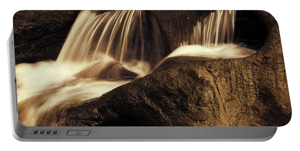 Rock Portable Battery Charger featuring the photograph Water Flow by Les Cunliffe