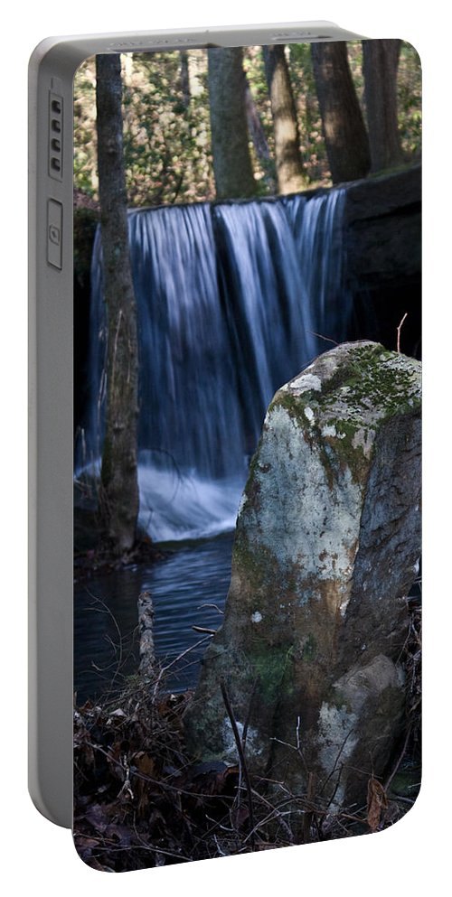 Ruins Portable Battery Charger featuring the photograph Waterfall At The Ruins by Douglas Barnett