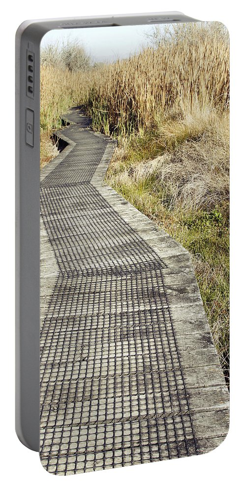 Boardwalk Portable Battery Charger featuring the photograph Wetland Walk by Les Cunliffe