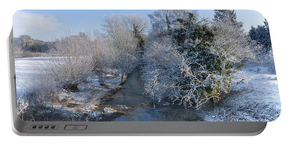 Birds Portable Battery Charger featuring the photograph Winter Landscape by Svetlana Sewell