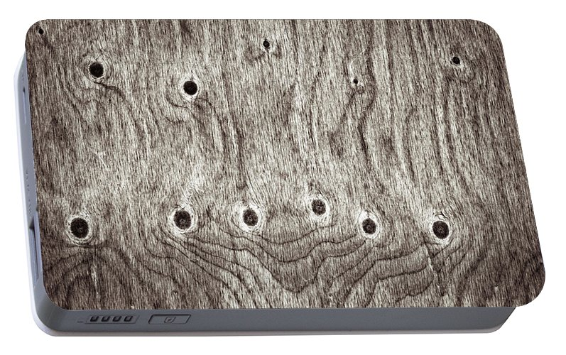 Age Portable Battery Charger featuring the photograph Wooden Background by Tom Gowanlock