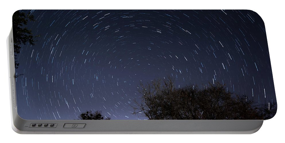 Star Trails Portable Battery Charger featuring the photograph 20 Minutes Of Star Movement by Todd Aaron