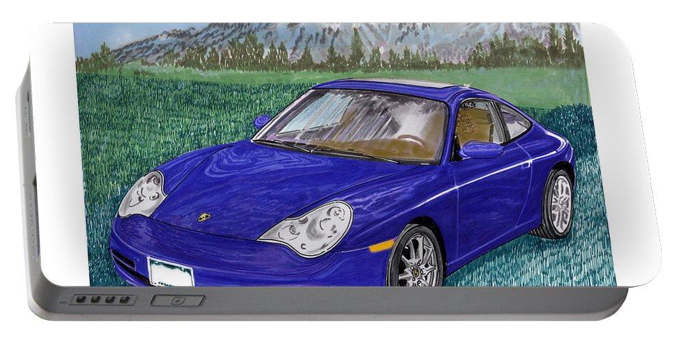 Porsche 996 Portable Battery Charger featuring the painting 2002 Porsche 996 by Jack Pumphrey