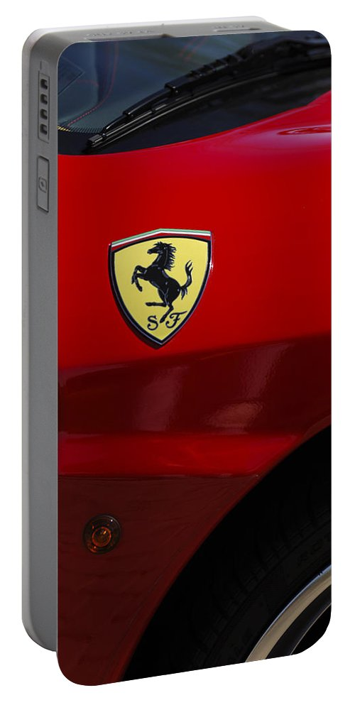 Transportation Portable Battery Charger featuring the photograph 2007 Ferrari F430 Spider F1 by Jill Reger