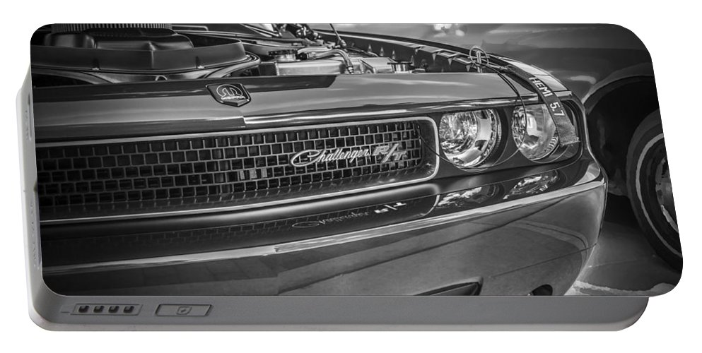 Dodge Portable Battery Charger featuring the photograph 2008 Dodge Challenger by Rich Franco