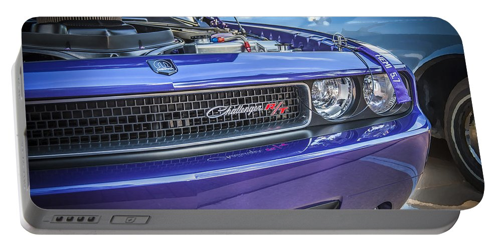 Dodge Portable Battery Charger featuring the photograph 2008 Dodge Challenger Rt by Rich Franco