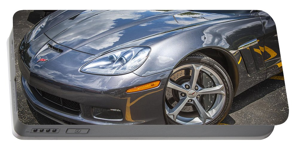 2010 Corvette Portable Battery Charger featuring the photograph 2010 Chevy Corvette Grand Sport Hdr by Rich Franco