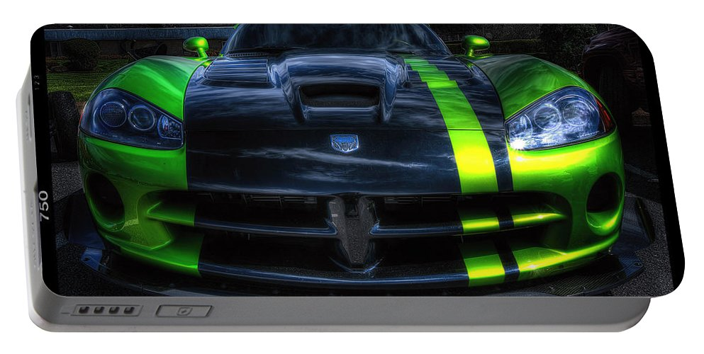 2010 Dodge Viper Acr Portable Battery Charger featuring the photograph 2010 Dodge Viper Acr by David B Kawchak Custom Classic Photography