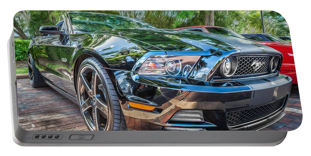 2013 Ford Mustang Portable Battery Charger featuring the photograph 2013 Ford Shelby Mustang Gt 5.0 Convertible Painted  by Rich Franco