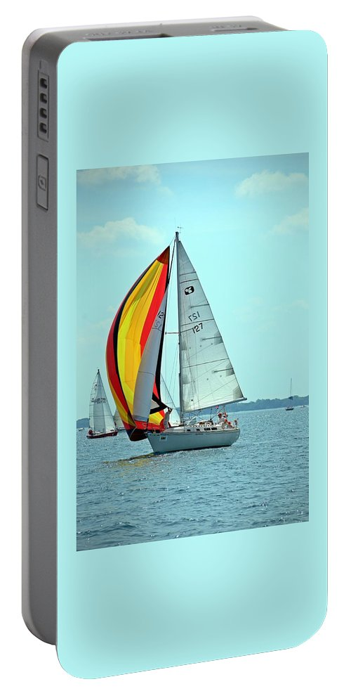 2014 Bells Beer Bayview Mackinac Portable Battery Charger featuring the photograph Anemone And Defiant by Randy J Heath