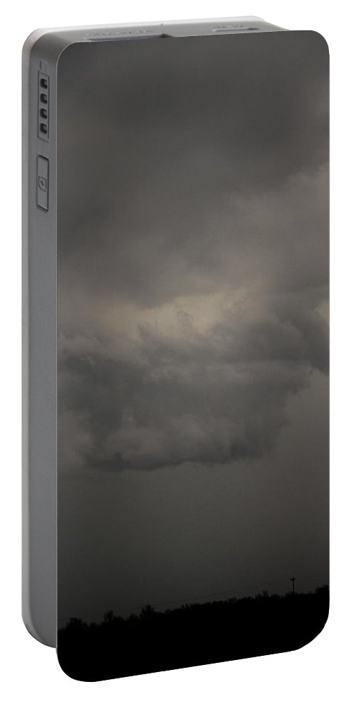 Stormscape Portable Battery Charger featuring the photograph Let The Storm Season Begin by NebraskaSC