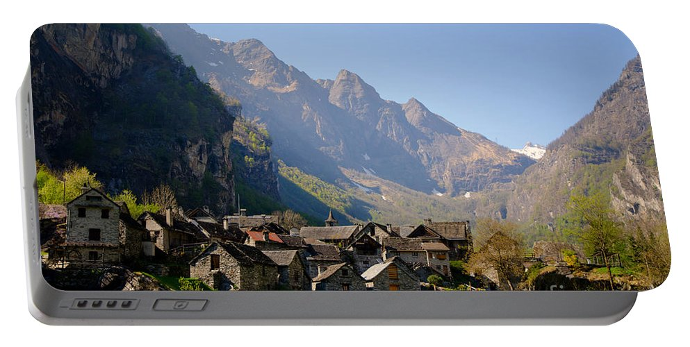Alpine Village Portable Battery Charger featuring the photograph Alpine Village by Mats Silvan