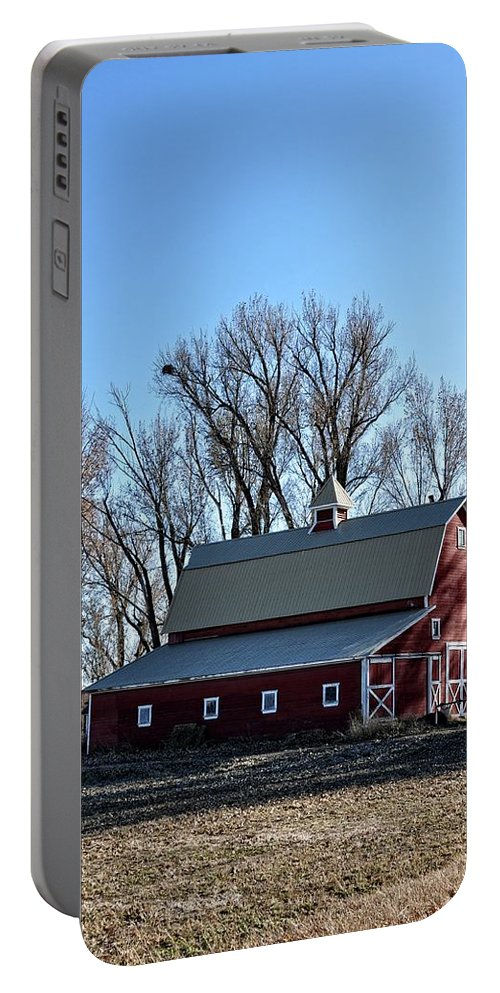 Barn Portable Battery Charger featuring the photograph Idaho Falls by Image Takers Photography LLC