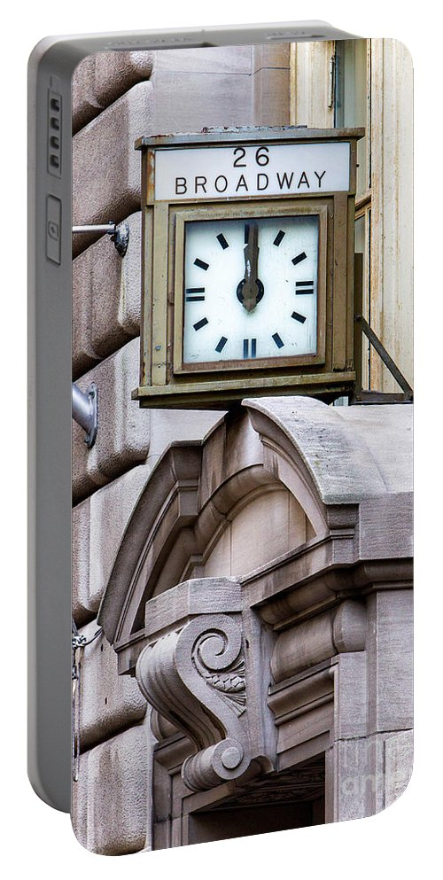 Financial Disrtict Portable Battery Charger featuring the photograph 26 Broadway by Jerry Fornarotto