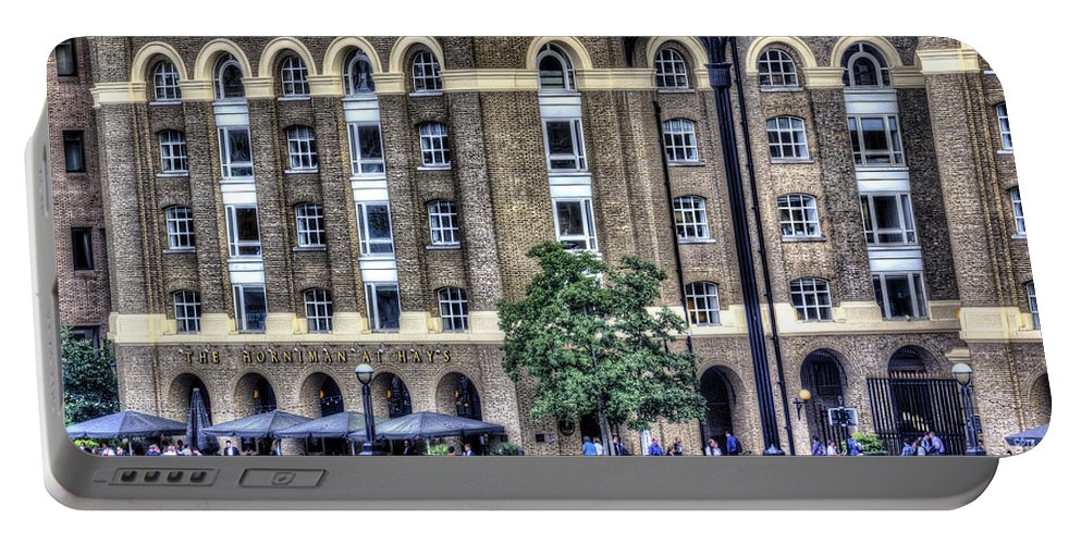 Horniman Pub Portable Battery Charger featuring the photograph Hays Galleria London by David Pyatt