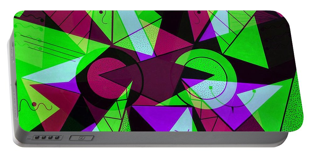 Abstract Portable Battery Charger featuring the digital art Abstract by Gabi Siebenhuehner