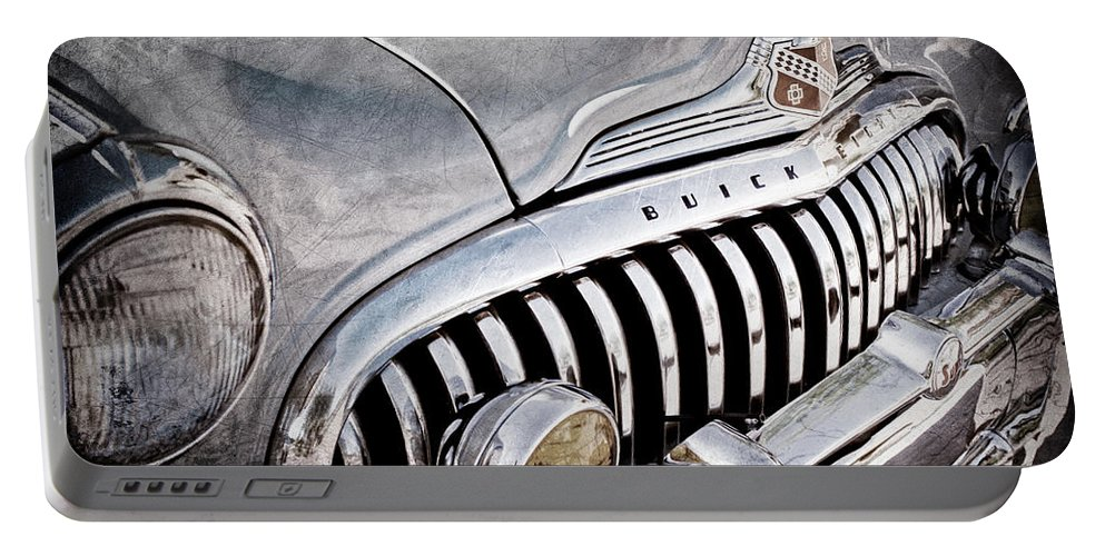 1947 Buick Eight Super Grille Emblem Portable Battery Charger featuring the photograph 1947 Buick Eight Super Grille Emblem by Jill Reger
