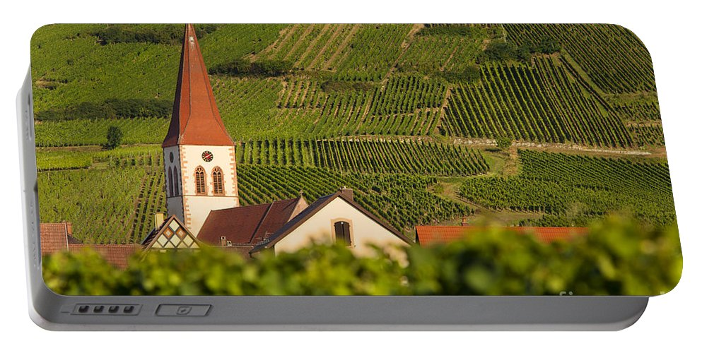 Ammerschwihr Portable Battery Charger featuring the photograph Alsace Church by Brian Jannsen