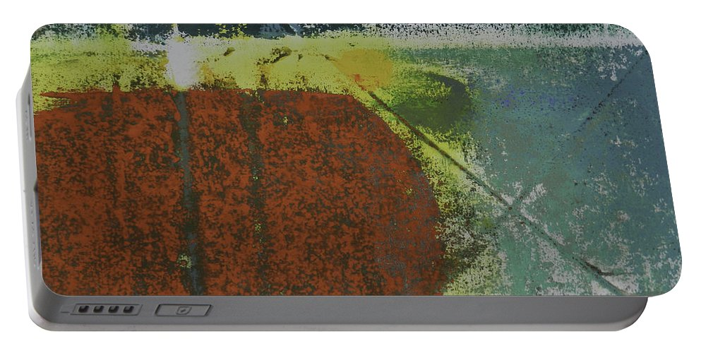 Tom Brooks Portable Battery Charger featuring the painting Aquarium by Tom Brooks