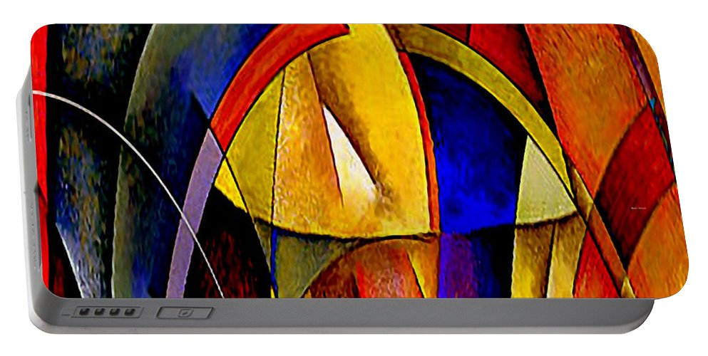 Arches Portable Battery Charger featuring the mixed media Arches by Rafael Salazar