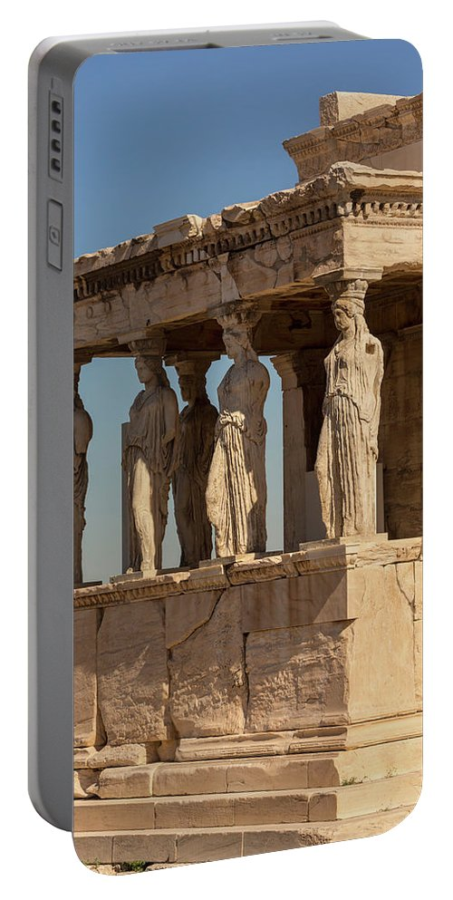 Photography Portable Battery Charger featuring the photograph Athens, Attica, Greece. Porch by Panoramic Images