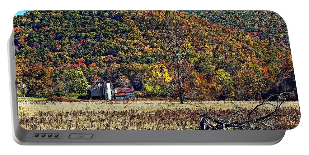 West Virginia Portable Battery Charger featuring the photograph Autumn Farm by Steve Harrington