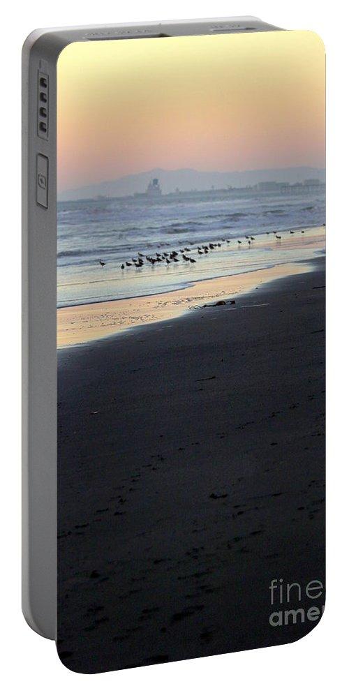 Beach Portable Battery Charger featuring the photograph Beach Sunset Ormond Beach by Henrik Lehnerer